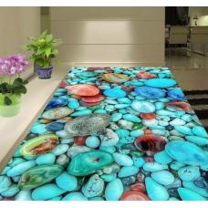 КОВРИК 3D голубые камни
