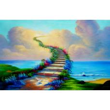 КОВРИК 3D лестница в небо
