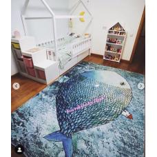 КОВРИК В ГОСТИНУЮ дом на большой рыбе