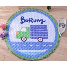 Детский коврик мешок для игрушек хлопковый грузовик