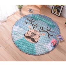 Детский коврик мешок для игрушек хлопковый Рождественский олень
