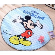 Детский коврик мешок для игрушек хлопковый МИККИ МАУС