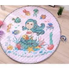 Детский коврик мешок для игрушек хлопковый РУСАЛКА