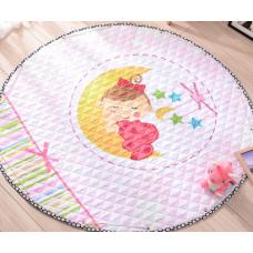 Детский коврик мешок для игрушек хлопковый ЛУННЫЙ РЕБЕНОК