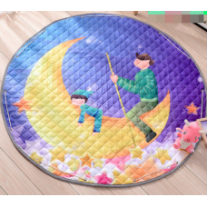 Детский коврик мешок для игрушек хлопковый ЛУННЫЙ РЫЦАРЬ