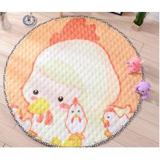 Детский коврик мешок для игрушек хлопковый ЦИПЛЕНОК
