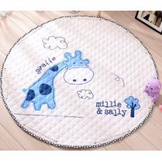 Детский коврик мешок для игрушек хлопковый ЖИРАФ