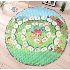 Детский коврик мешок для игрушек хлопковый ЦИФРОВОЙ ЛАБИРИНТ