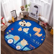 Детский коврик мешок для игрушек хлопковый КОРОВКА В МАШИНЕ