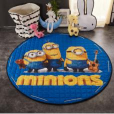 Детский коврик мешок для игрушек хлопковый Миньоны