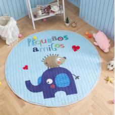 Детский коврик мешок для игрушек хлопковый ЕЖИК И СЛОН