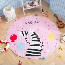 Детский коврик мешок для игрушек хлопковый ЗЕБРА