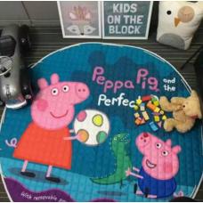 Детский коврик мешок для игрушек хлопковый Свинка Пеппа И ДЖОРДЖ