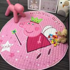 Детский коврик мешок для игрушек хлопковый ПЕППА