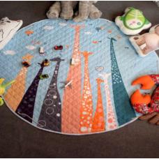 Детский коврик мешок для игрушек хлопковый ЖИРАФЫ