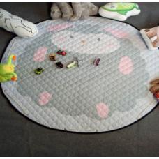 Детский коврик мешок для игрушек хлопковый БАРАШЕК
