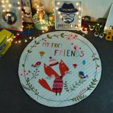 Детский коврик мешок для игрушек хлопковый  foxy