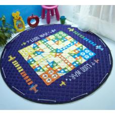 Детский коврик мешок для игрушек хлопковый  ВЕРТОЛЕТЫ