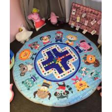 Детский коврик мешок для игрушек хлопковый  ЗВЕРЮШКИ