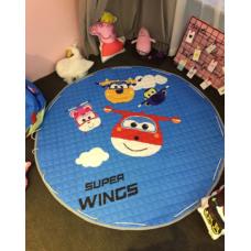 Детский коврик мешок для игрушек хлопковый  Super Wings