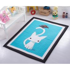 КОВРИК ДЕТСКИЙ ХЛОПКОВЫЙ белая кошка