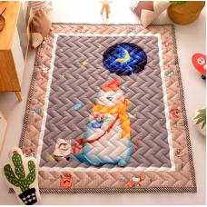 КОВРИК ДЕТСКИЙ ХЛОПКОВЫЙ белый мишка и звездное небо