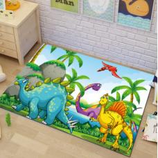 КОВРИК ПЛЮШЕВЫЙ динозавры