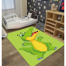 КОВРИК ПЛЮШЕВЫЙ крокодил