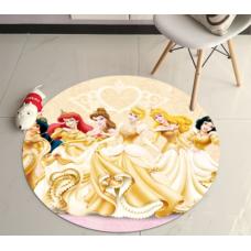 ДЕТСКИЙ КРУГЛЫЙ КОВРИК  принцессы