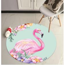 ДЕТСКИЙ КРУГЛЫЙ КОВРИК  фламинго