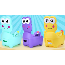 ГОРШОК лягушонок фиолетовый
