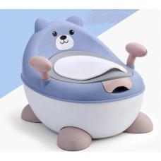 ГОРШОК мишка  голубой