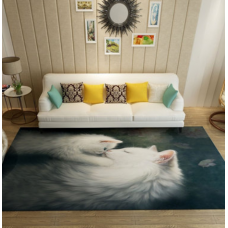 КОВРИК В ГОСТИНУЮ белые кошки