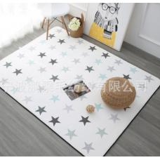 Детский коврик плюшевый звезды