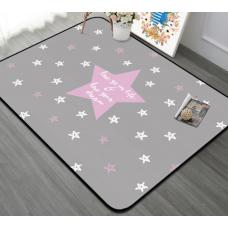 КОВРИК ПЛЮШЕВЫЙ звезда розовая