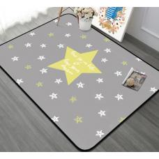 КОВРИК ПЛЮШЕВЫЙ звезда желтая