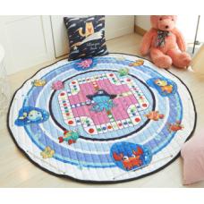 Детский коврик мешок для игрушек хлопковый морской