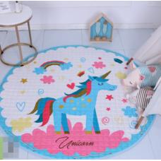 Детский коврик мешок для игрушек хлопковый единорог