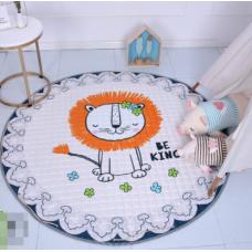 Детский коврик мешок для игрушек хлопковый лев