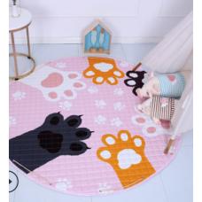 Детский коврик мешок для игрушек хлопковый лапки