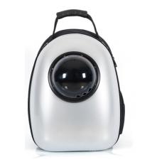 Рюкзак-переноска для кошек и небольших собачек серебро