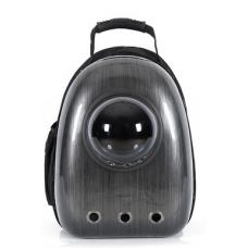 Рюкзак-переноска для кошек и небольших собачек черный бриллиант