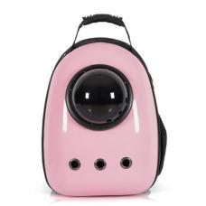 Рюкзак-переноска для кошек и небольших собачек розовый