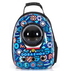 Рюкзак-переноска для кошек и небольших собачек синий DORAEMON