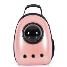 Рюкзак-переноска для кошек и небольших собачек розовое золото