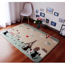 Детский коврик плюшевый котики в Париже
