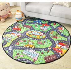 Детский коврик мешок для игрушек хлопковый  дорога