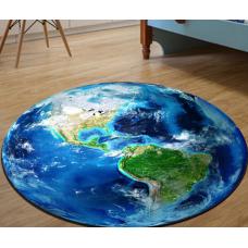 ДЕТСКИЙ КОВРИК КРУГЛЫЙ планета земля