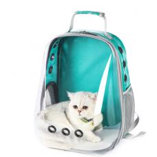 Рюкзак-переноска для кошек и небольших собачек изумруд