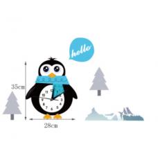 Часы настенные пингвин